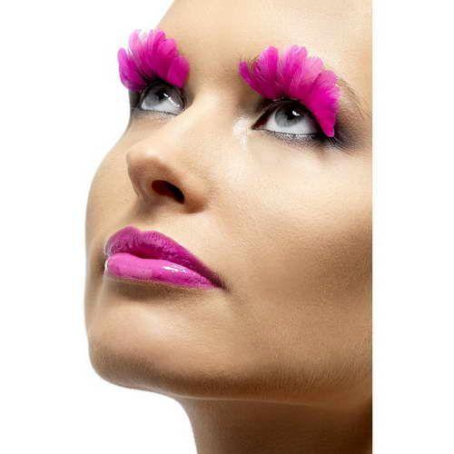 Feder Augenwimpern : Neon Pink*