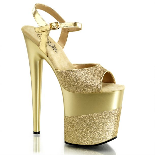 Plateau High Heels FLAMINGO-809-2G - Gold