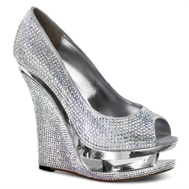 Plateau Wedges RAZZLE-660RS : Silber*