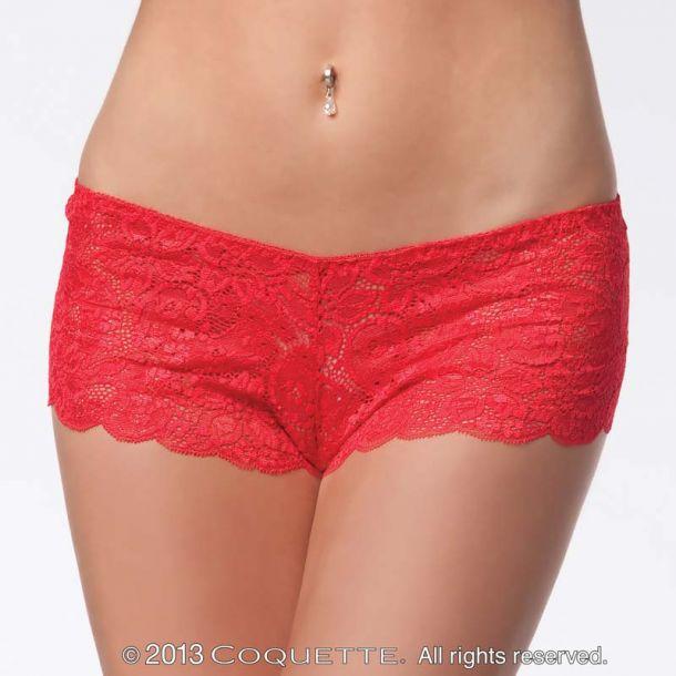 Spitzen-Panty - Rot