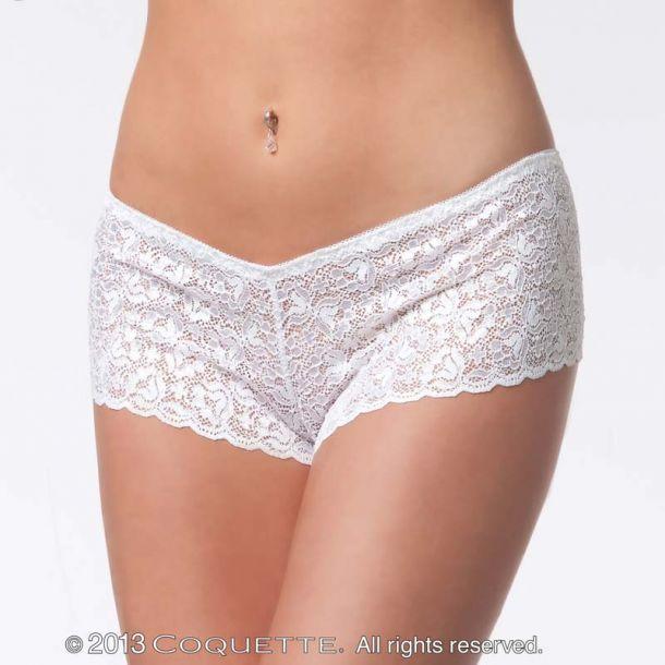 Spitzen-Panty : Weiß*