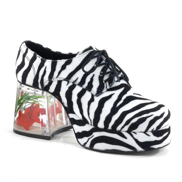 Herren Plateauschuhe PIMP-02 : Zebra*