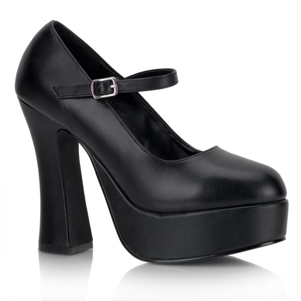 Plateau Pumps DOLLY-50 - PU Schwarz*