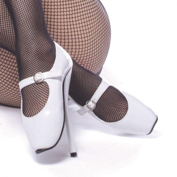 Fetish Heels BALLET-08 - Lack Weiß