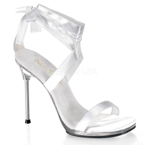 Sandalette CHIC-14 - Weiß/Klar