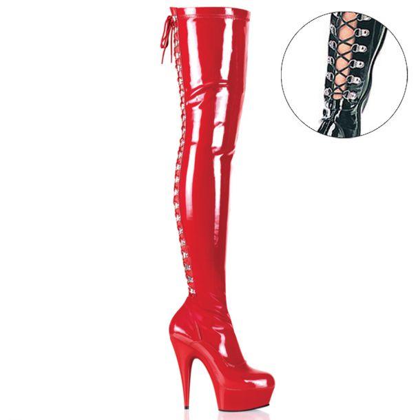 Overknee Stiefel DELIGHT-3063 - Lack Rot
