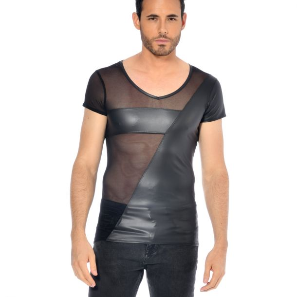 Wetlook T-Shirt SANTOR - Schwarz