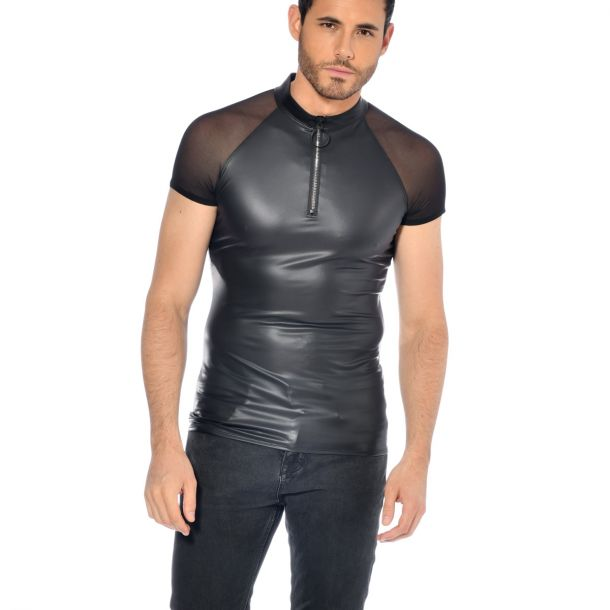 Wetlook T-Shirt KHALT - Schwarz