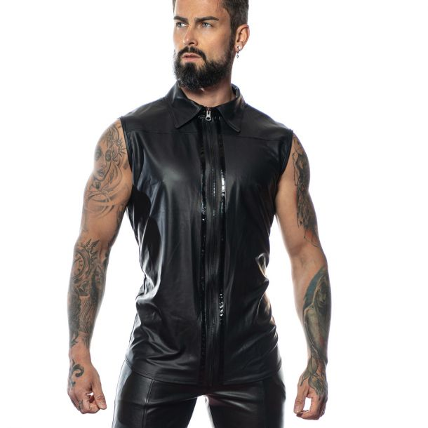 Wetlook Shirt CHUCK - Schwarz