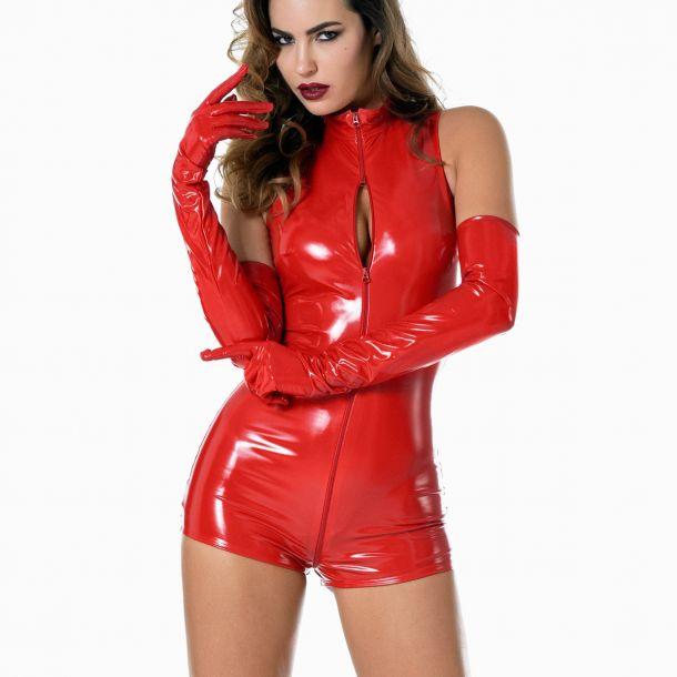 Lack Bodysuit - Rot