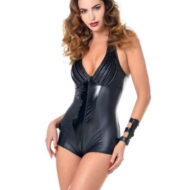 RUBY Wetlook Neckholder-Bodysuit