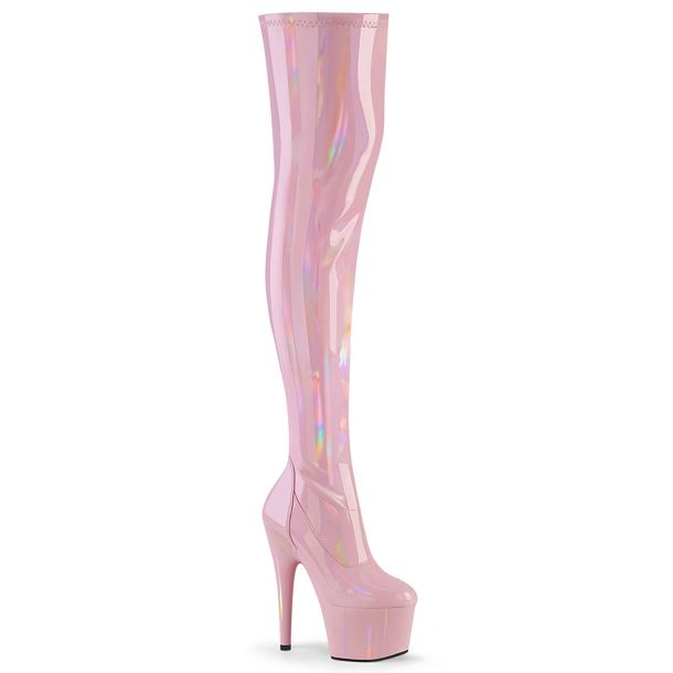 Plateau Overknee Stiefel ADORE-3000HWR - Baby Pink