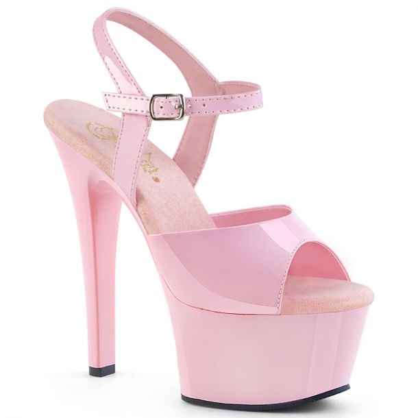 Plateau High Heels ASPIRE-609 - Lack Baby Pink*