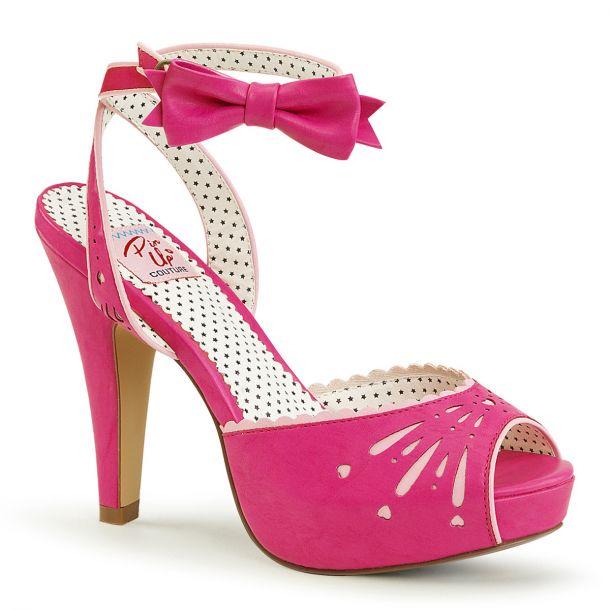 Peeptoe Sandalette BETTIE-01 - Hot Pink