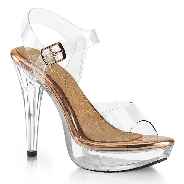 Sandalette COCKTAIL-508 - Klar/Rose Gold