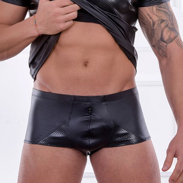Wetlook Boxershorts DAVID - Schwarz*