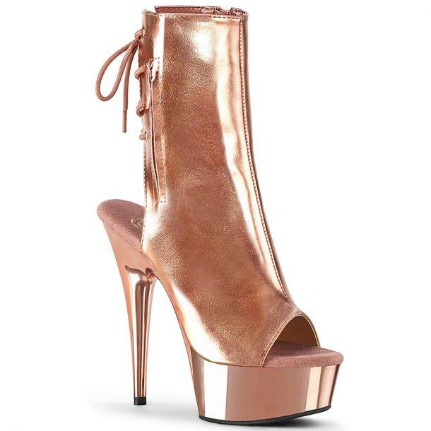 Plateau Stiefelette DELIGHT-1018 - Rose Gold Metallic