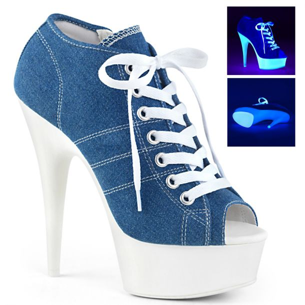 Canvas High Heel Sneakers DELIGHT-600SK-01 - Blau