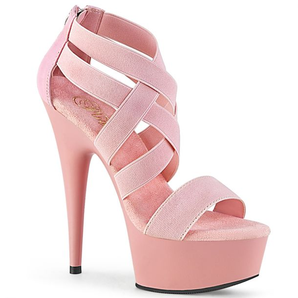 Plateau High Heels DELIGHT-669 - Baby Pink