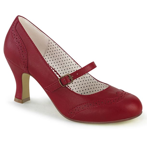 Retro Pumps FLAPPER-32 - Rot
