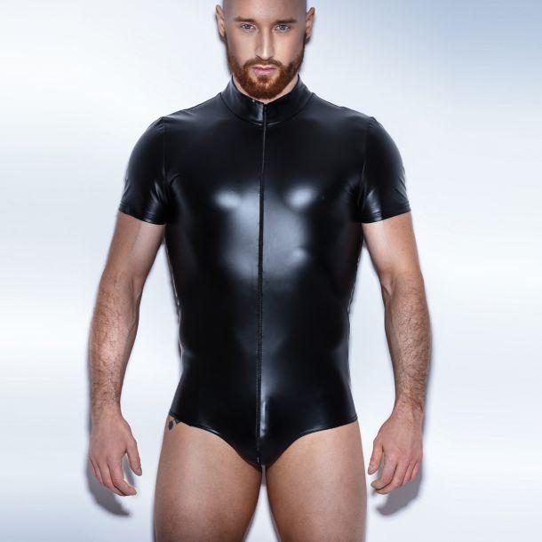 Herren Wetlook Bodysuit H045 - Schwarz*