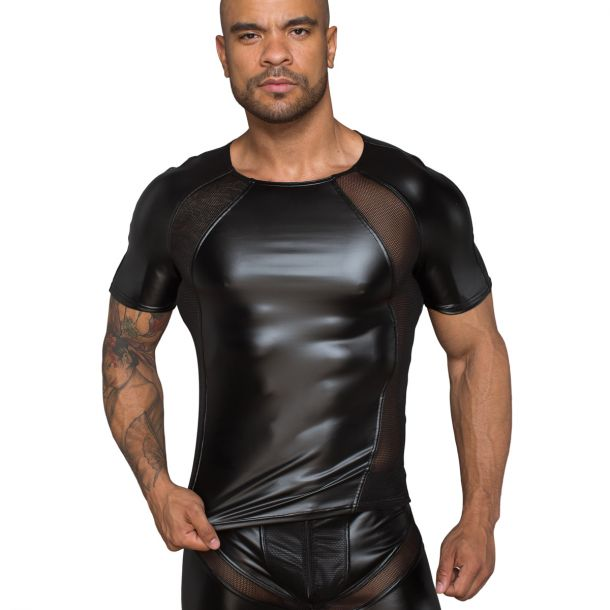 Power Wetlook T-Shirt H056 - Schwarz*