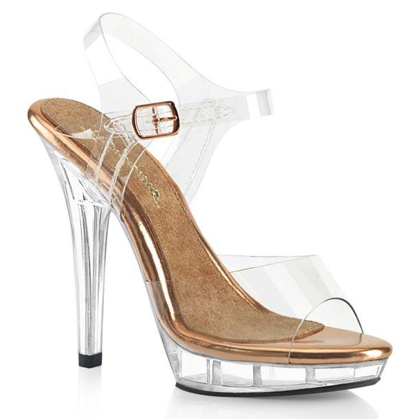 Sandalette LIP-108 - Klar/Rose Gold