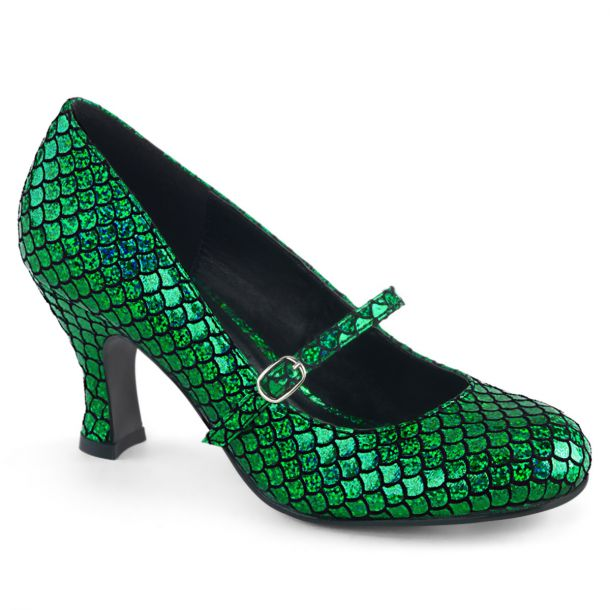 Pumps MERMAID-70 - Grün Hologramm