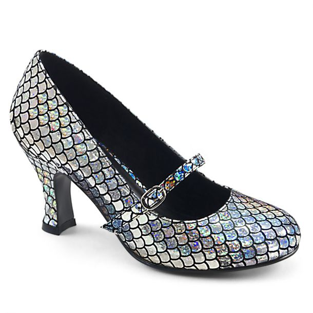 Pumps MERMAID-70 - Silber Hologramm
