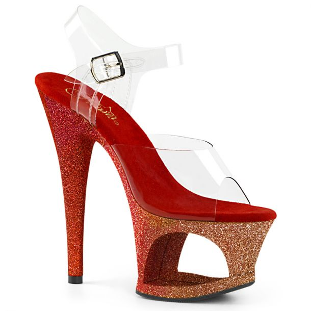 Plateau High Heels MOON-708OMBRE - Gold/Rot