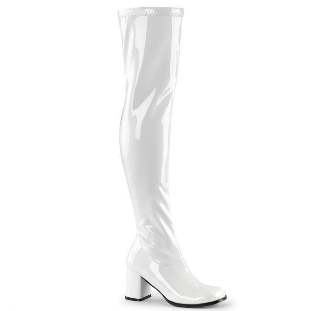 Overknee Stiefel GOGO-3000 - Lack Weiß*