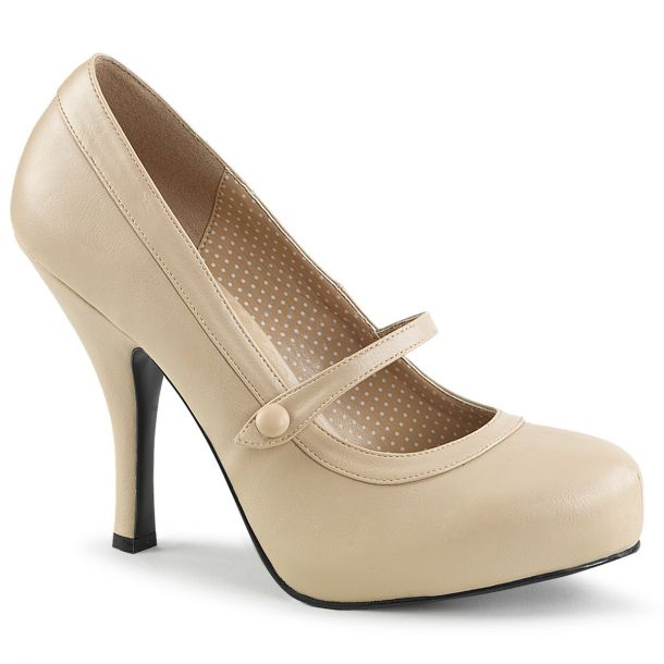 Mary Janes PINUP-01 - Creme