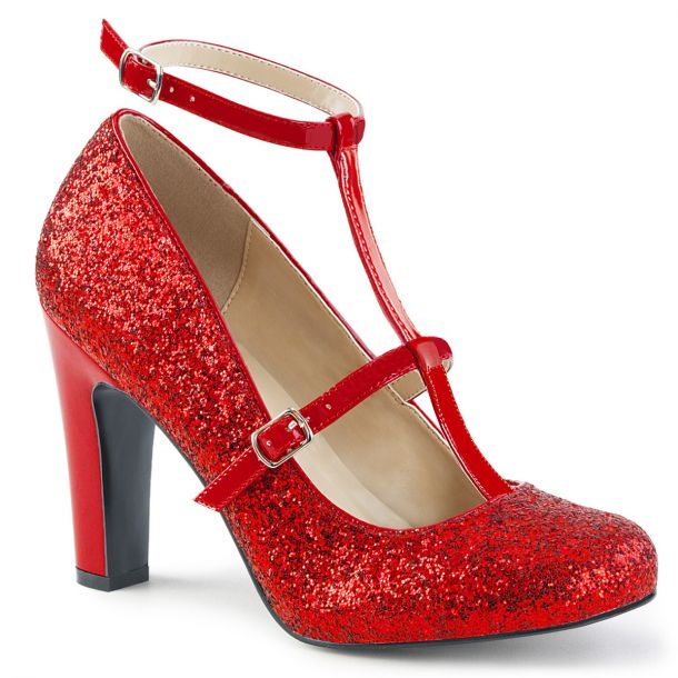 Glitter Pumps QUEEN-01 - Rot*