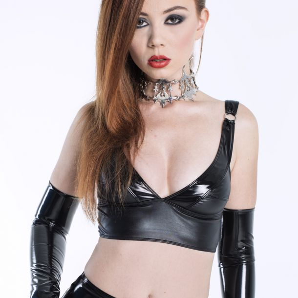 Wetlook Top ELISABETH - Schwarz*