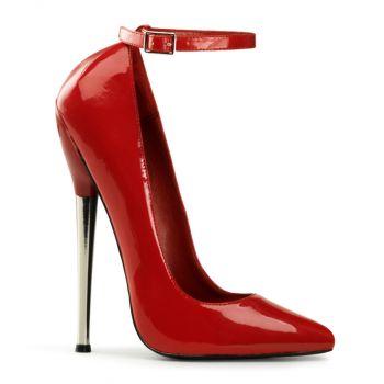 Extrem High Heels DAGGER-12  - Lack Rot