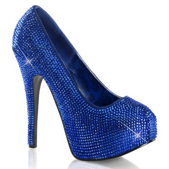 Strass High Heels TEEZE-06R - Royal Blue