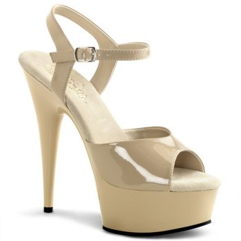 Plateau High Heels DELIGHT-609 - Creme