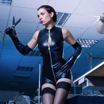 Wetlook Bodysuit - Schwarz*