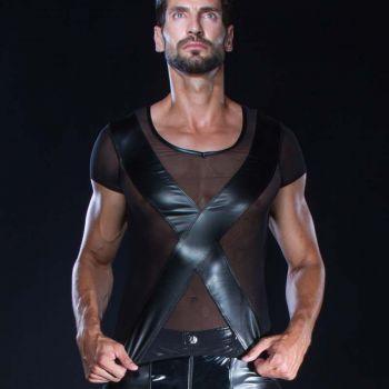 Netz T-Shirt MATT - Schwarz*