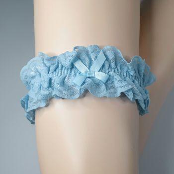 Strumpfband aus Spitze - Hellblau*