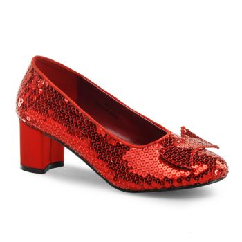Pailletten Pumps DOROTHY-01 - Rot