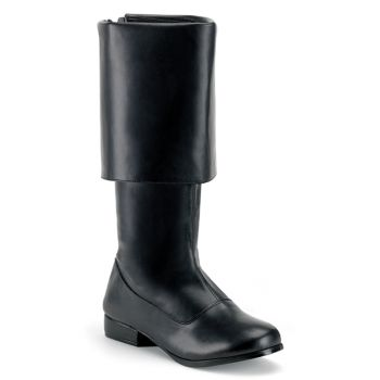 Piratenstiefel PIRATE-100 : Schwarz*