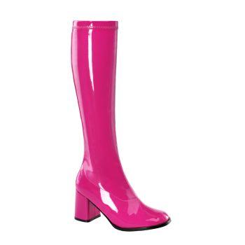 Retro Stiefel GOGO-300 : Lack Hot Pink*