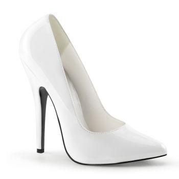 Extrem High Heels DOMINA-420 : Lack Weiß*