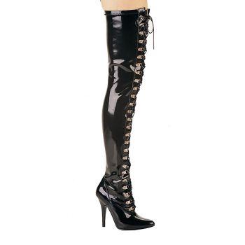 Overknee Stiefel SEDUCE-3024 - Lack Schwarz