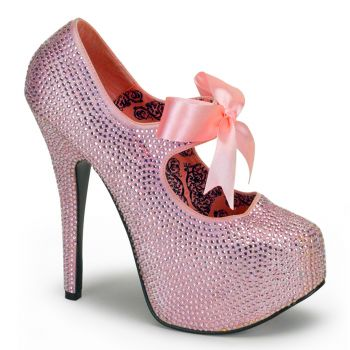 Strass High Heels TEEZE-04R - Baby Pink