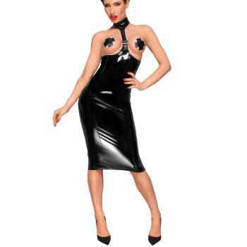 Neckholder Lack Kleid F192