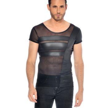 Wetlook T-Shirt BENJEN - Schwarz*