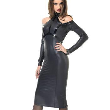 Rückenfreies Wetlook Kleid CHIARA