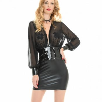 Wetlook Mini Kleid ROBYN
